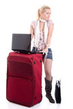 Traveling young businesswoman Stock Images