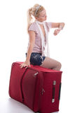 Traveling young woman Royalty Free Stock Photos