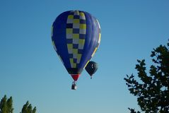 Travell com o balão de ar quente fotos de stock royalty free