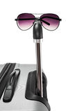 Travell Luggage and sun glasses Stock Photography