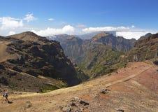 Traveller. In Madeira mountains Stock Photos