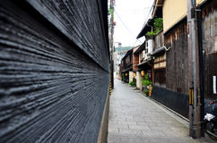 Traveller and japanese people go to most popular area of Gion Stock Photography