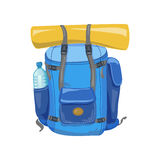 Traveller marching backpack Stock Image