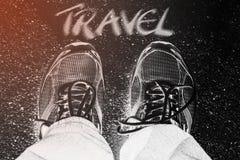 Traveller`s feet Stock Photography