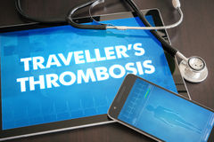 Traveller's thrombosis (heart disorder) diagnosis medical concep Royalty Free Stock Photos