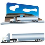 Traveller truck. White truck on the long distance travel Stock Photography