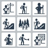 Traveller vector icons stock illustration