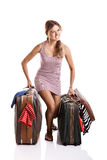Traveller woman Royalty Free Stock Photo