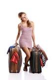 Traveller woman Royalty Free Stock Photos