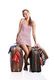 Traveller woman Stock Photo