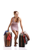 Traveller woman Royalty Free Stock Images