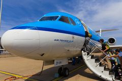 Travellers boarding an Air France KLM Cityhopper Stock Image