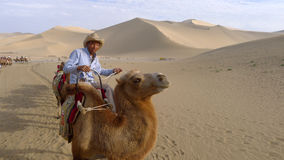 Travellers in the desert Stock Photography
