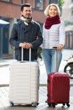 Travellers enjoying shopping tour Stock Image