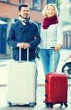 Travellers enjoying shopping tour. Husband and wife enjoying shopping tour during voyage Stock Image