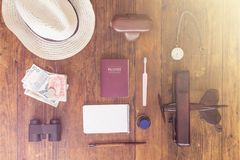Travellers Items. Vintage Collection of Travellers Items Stock Photos