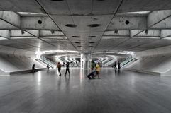 Travellers at a metro station Royalty Free Stock Image