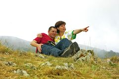 Travellers pair Royalty Free Stock Photos