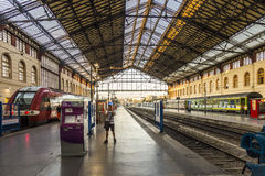 Travellers in Saint Charles train station in Marseilles Royalty Free Stock Photos