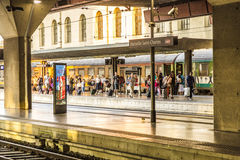 Travellers in Saint Charles train station in Marseilles Royalty Free Stock Image