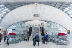 Travellers at Suvarnabhumi International Airport Stock Photos
