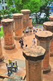 Travellers are visiting the Ponagar temple in Nha Trang stock images