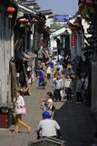 Travellers walking  in the yuehe  street Stock Images