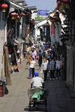 Travellers walking  in the yuehe  street Royalty Free Stock Photos