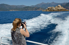 Travelling along the Corsican seacoast Royalty Free Stock Images