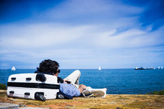 Travelling at Antibes. Stock Photography