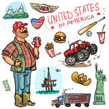 Travelling attractions - United States Royalty Free Stock Photography