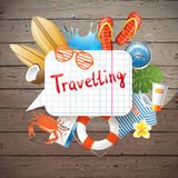 Travelling background Royalty Free Stock Photos