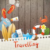 Travelling background Royalty Free Stock Photo