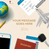 Travelling background, travel and vacation concept Stock Photo