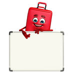 Travelling bag Chatacter with display board Royalty Free Stock Image