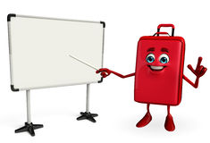 Travelling bag Chatacter with display board Stock Photo