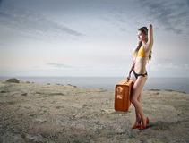 Travelling at the beach Royalty Free Stock Photo