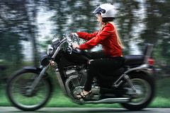 Travelling biker Royalty Free Stock Photography