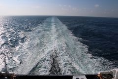 Travelling by boat from Norway to Denmark royalty free stock images