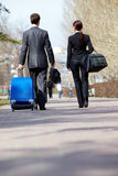 Travelling business partners Royalty Free Stock Photo