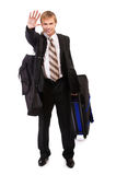 Travelling businessman Stock Images