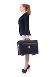 Travelling businesswoman isolated Stock Image