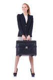 Travelling businesswoman isolated Royalty Free Stock Photos