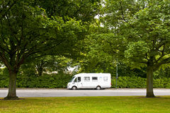 Travelling in camper. MALMO, SWEDEN - JUNE 29: Travelling in camper on June 29, 2014 in Malmo Royalty Free Stock Images