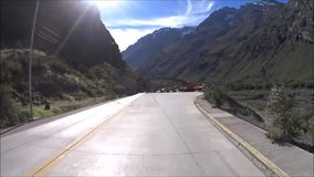 Travelling at a country side in Chile. Travelling by car at a country side in Santiago, Chile stock video footage