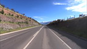 Travelling at a country side in Chile. Travelling by car at a country side in Santiago, Chile stock video