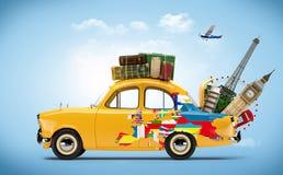 Travelling royalty free illustration