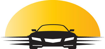 Travelling car with sunlight. Has been created as vector Stock Photo