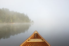 Travelling by Cedar Canoe Stock Images