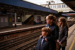 Travelling children Royalty Free Stock Images